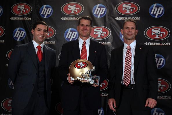 Trent+Baalke+Jim+Harbaugh+Introduced+49ers+uCigTerdUQsl