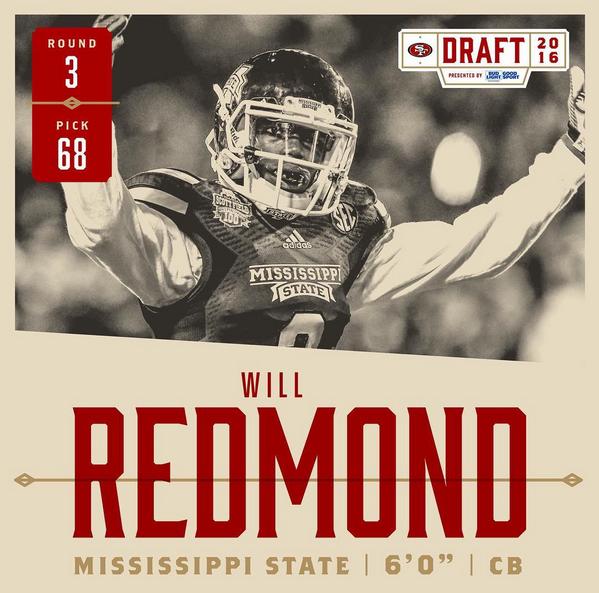 Will Redmond (49ers.com)